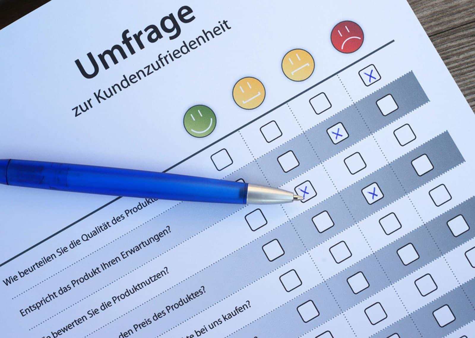 Kunden-Fragebogen: Weniger ist oft mehr